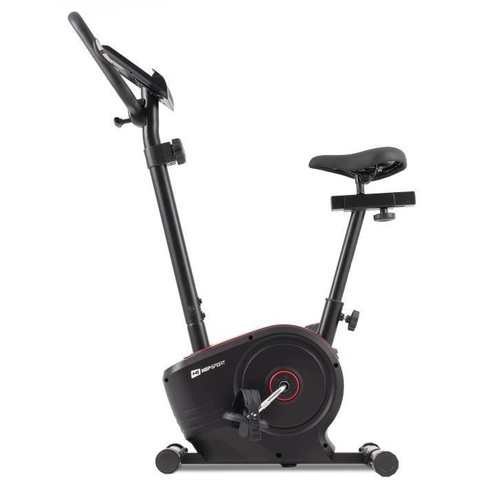 HOP-SPORT Vélo d'appartement HS-2050H Sonic – Roue d'inertie de 7kg- Max 120 KG - Vélo dimensions compactes - Réglable (Rouge)