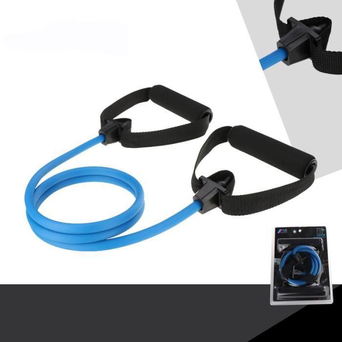 Elastique de Resistance Musculation Fitness 120 cm 20 Livres Bleu