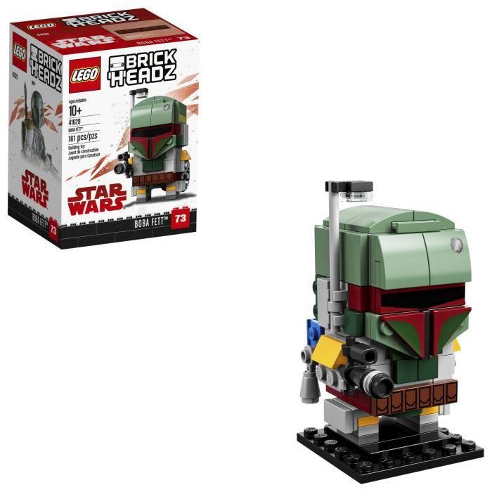 Jeu D'Assemblage LEGO Brickheadz Boba Fett 41629 Kit de construction, Multicolor V0P35