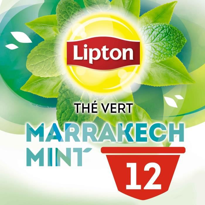 LIPTON Thé Vert Marrakech Mint Capsules Dolce Gusto 12 Capsules - 30 g