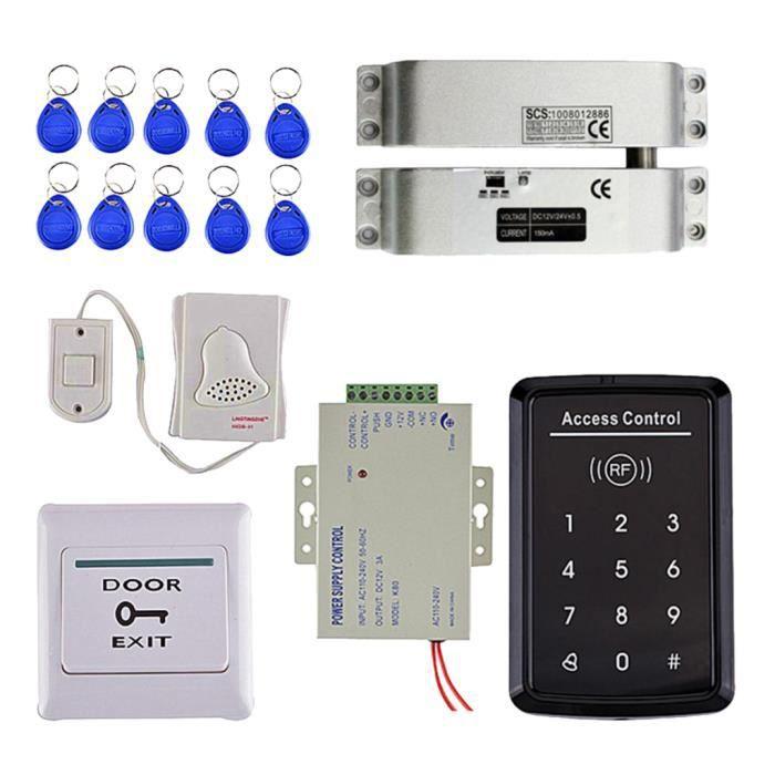 Rfid Kit Digicode Système Sécurité de Contrôle D'accès Porte Serrure Magnétique gazechimp