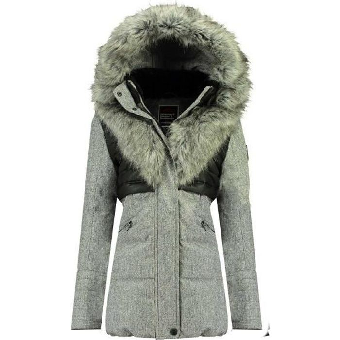 Parka Femme Geographical Norway Bunky 056 Gris Clair