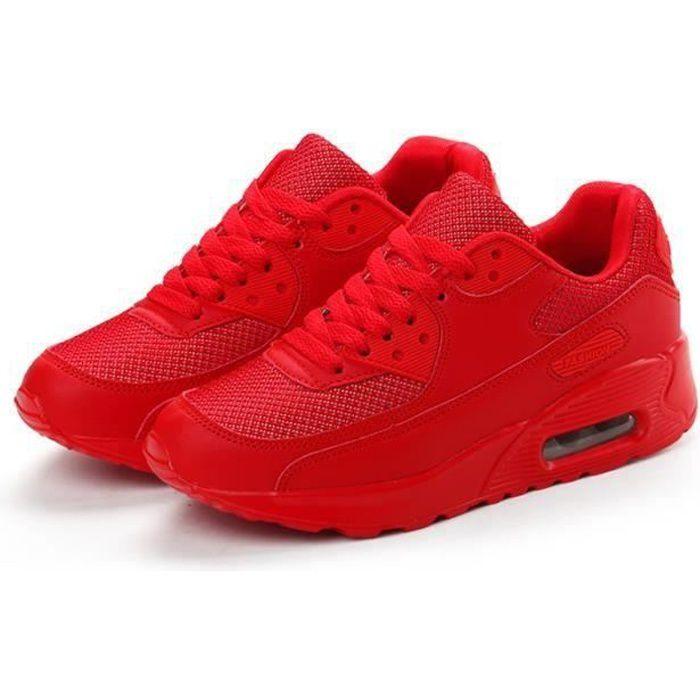 Basket Femme Chaussures de course Rouge