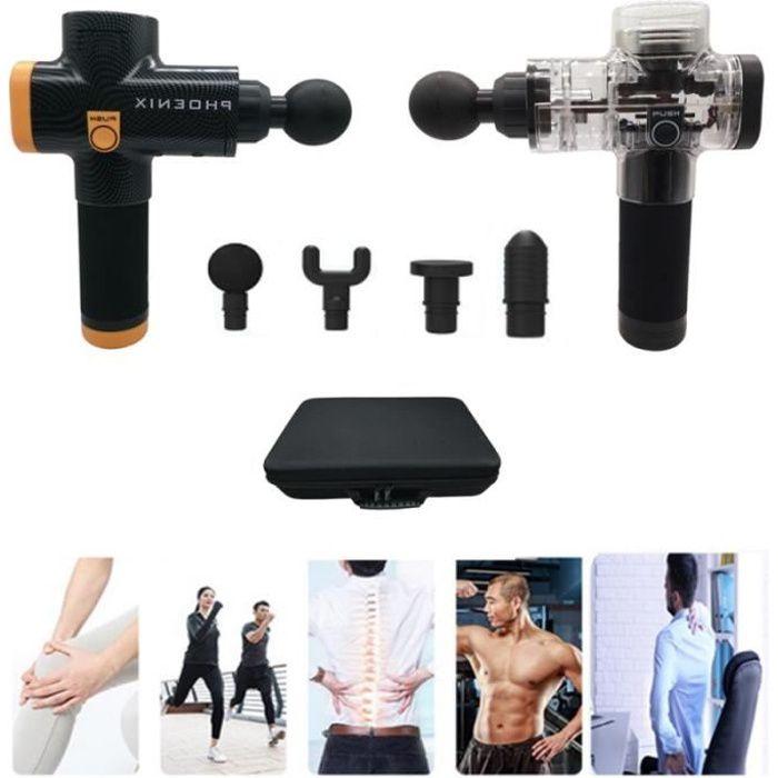 Phoenix A2 Massage Muscle Relaxation pistolet de Massage à la maison charge profonde dynamique thérapie vibrateur -Transparente