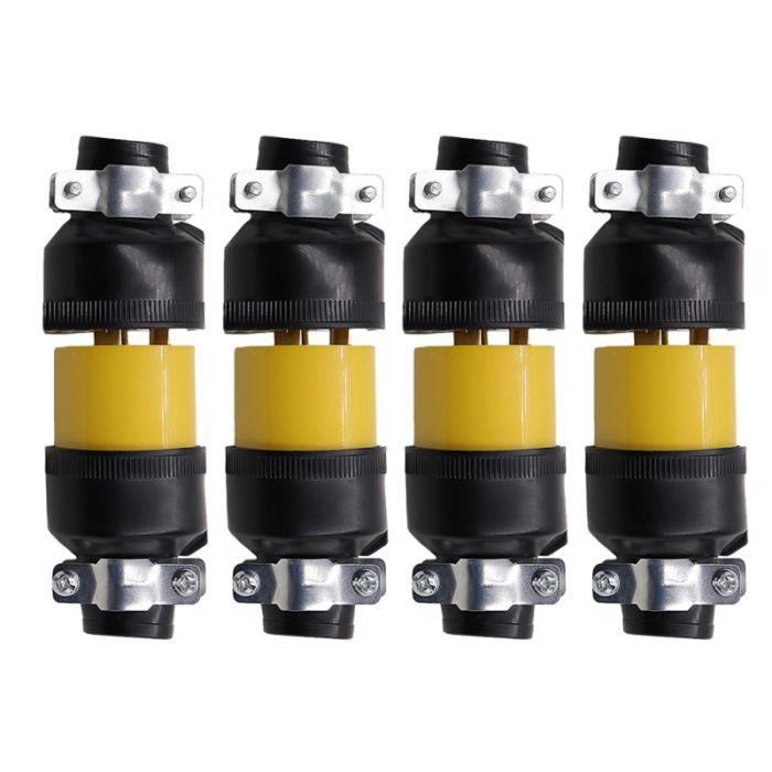 4 ensembles US Plug 5-15P Mâle Femelle Rallonge Cordon Remplacement Électrique Bouchons D'extrémité 3 Prong FILTRE POUR HOTTE
