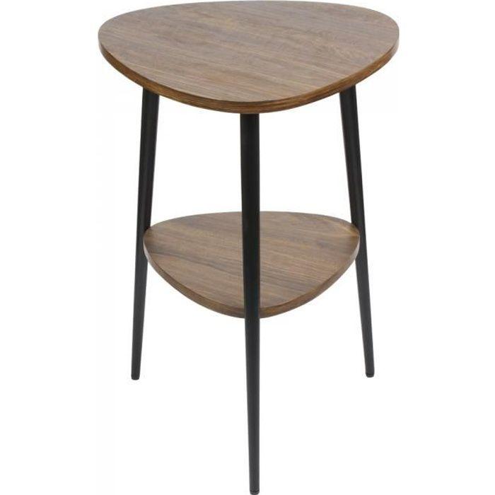 Sellette akab 2 plateaux - Table Passion NEURE Marron