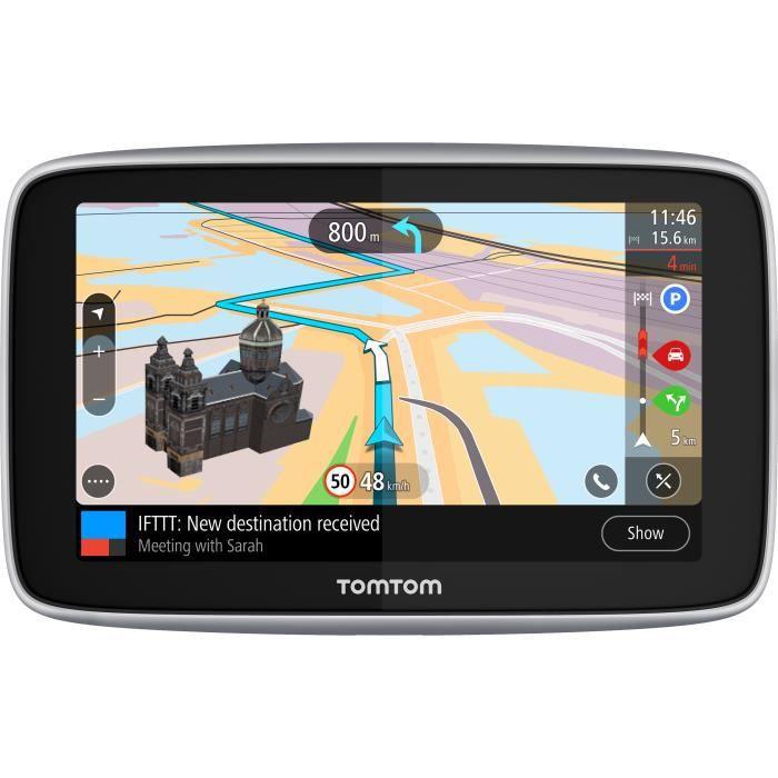 TomTom GO Premium 5'' - GPS auto 5 pouces, cartographie monde 152 pays, cartes SIM intégrée, technologie IFTTT