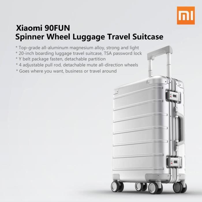 Xiaomi Roue Bagages Voyage Valise 20 pouces Carry-on avec Y ceinture Pull-tige de qualité supérieure tout en aluminium