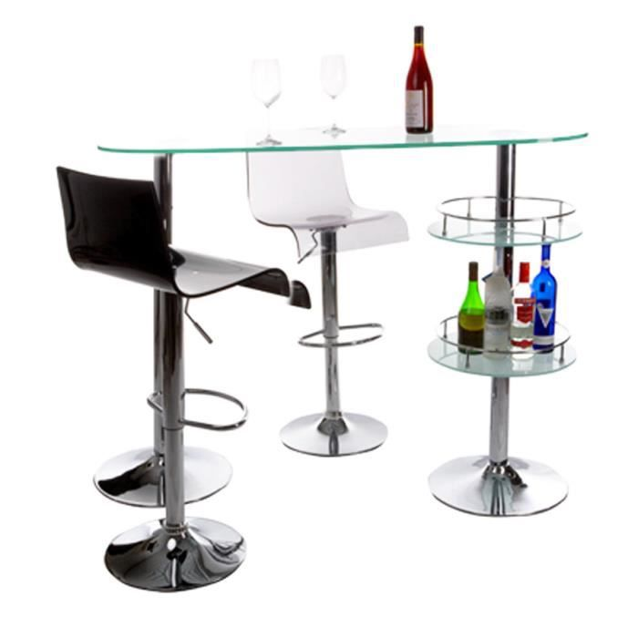 bar de salon design 39 gin 39 en verre achat vente meuble bar bar de salon design 39 gin 39 e. Black Bedroom Furniture Sets. Home Design Ideas