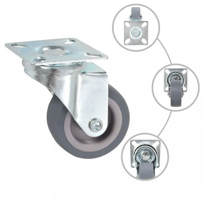 SO-TECH/® Roulette de Meuble PivotanteShift Couleur Marron-transparent /Ø 75 mm avec Frein