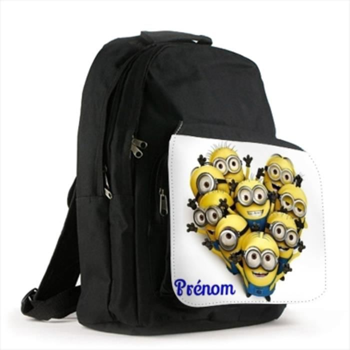 grand sac a dos personnalise prenom modele minions sad012 achat vente sac dos. Black Bedroom Furniture Sets. Home Design Ideas