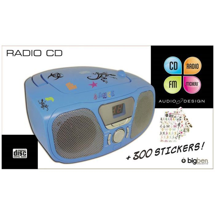 bigben cd46blstick lecteur cd portable 300 stick radio cd cassette avis et prix pas cher. Black Bedroom Furniture Sets. Home Design Ideas