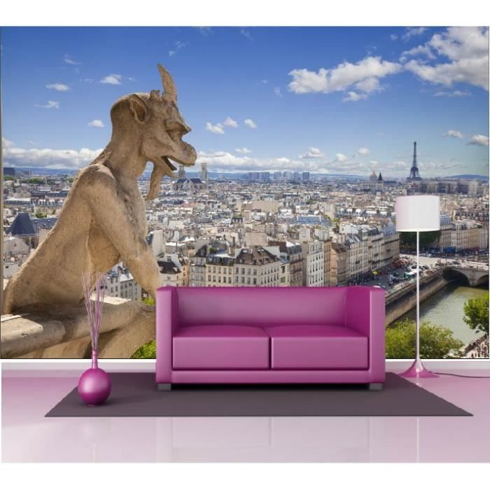 stickers muraux g ant d co notre dame de paris dimensions 265x180cm achat vente stickers. Black Bedroom Furniture Sets. Home Design Ideas