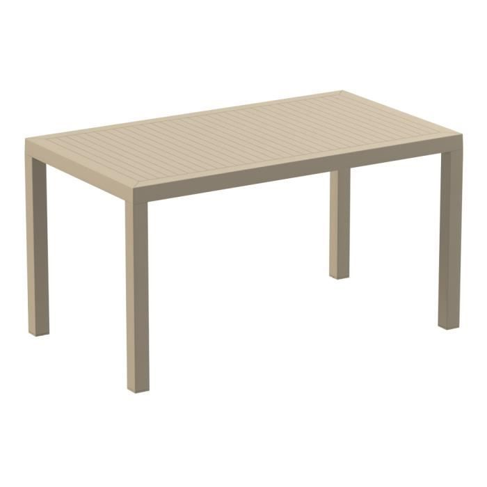 Table de jardin en r sine ares beige achat vente mange - Table de jardin contemporaine ...