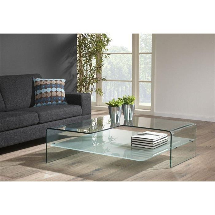 table basse design wave en verre achat vente table basse table basse design wave verre. Black Bedroom Furniture Sets. Home Design Ideas
