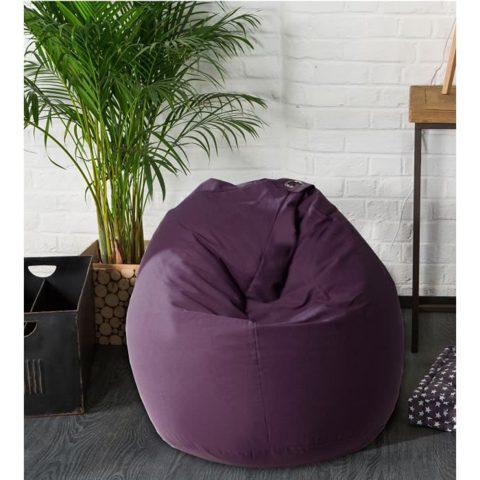 fun poire pouf 100 coton 79x100 cm violet achat vente pouf poire cdiscount. Black Bedroom Furniture Sets. Home Design Ideas