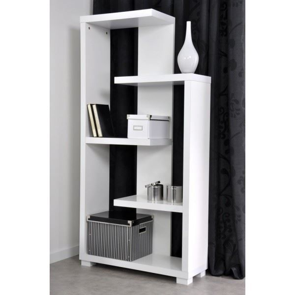 biblioth que tag re salsa blanc brillant l 7 achat. Black Bedroom Furniture Sets. Home Design Ideas