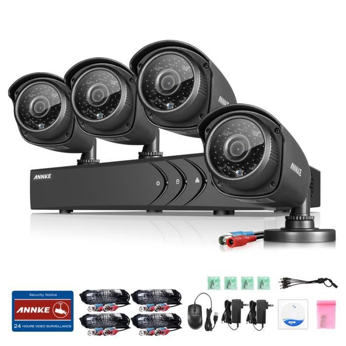 annke kit cam ra de surveillance ext rieur cctv syst me de s curit 8ch dvr enregistreur 1080n. Black Bedroom Furniture Sets. Home Design Ideas