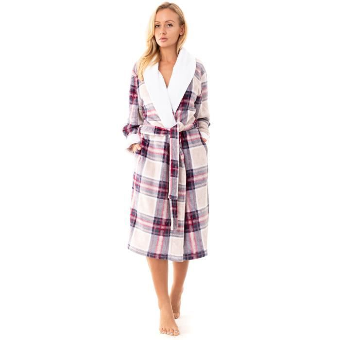 Schiesser Chaud éponge Pyjama Fille Long Revers Hiver Neuf