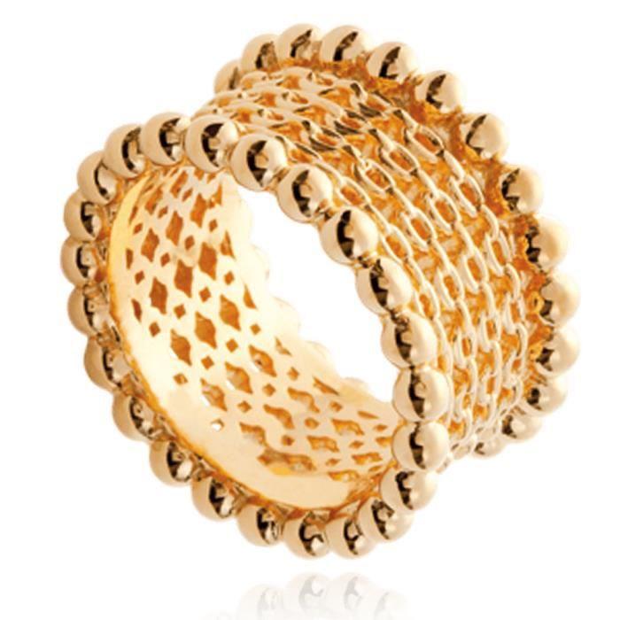 6 mm Plaqué Or Bijoux Bracelet de Mode 18K Mlle