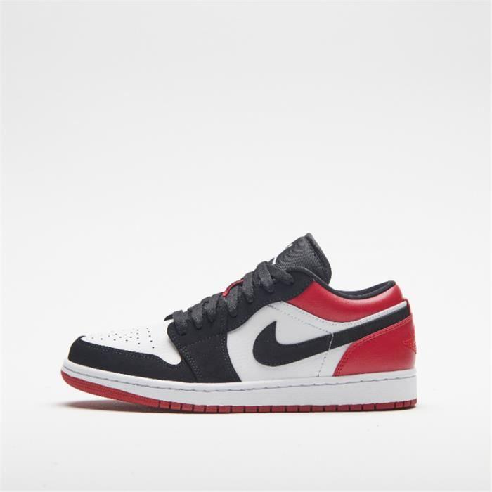 Basket Air Jordan 1 Low 553558-116 Chaussures de pour Homme Rouge ...