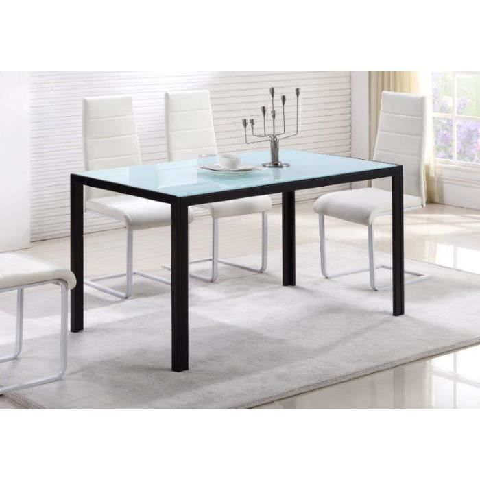 superbe table manger 6 personnes noir et blanc achat vente table a manger seule superbe. Black Bedroom Furniture Sets. Home Design Ideas