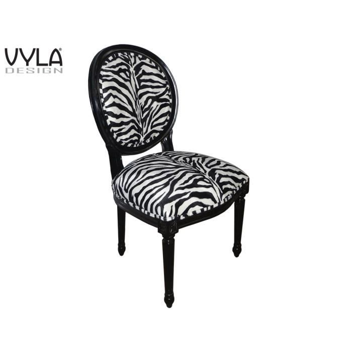 chaise zebra vyla design achat vente chaise polyur thane tissu acrylique cdiscount. Black Bedroom Furniture Sets. Home Design Ideas