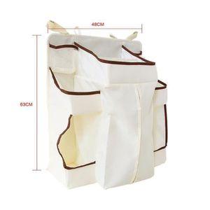 B/éb/é Sac Pochette de Rangement Suspendu Coton Organisateur De Stockage Multipurpose pour Landau Poussette Lit B/éb/é Pochette B/éb/é Table de Chevet Panier de Stockage en Coton Sac /à Couche Renard