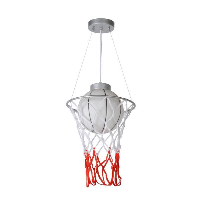 Lucide BASKET - Suspension Chambres d'enfant - Ø 30 cm - Gris