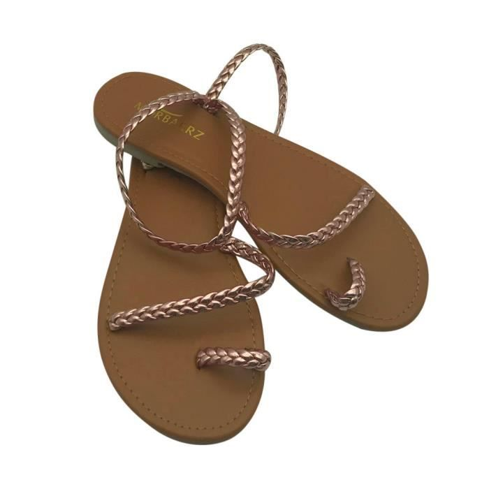 Flip Or Shoes Summer Beach Flat Flops Low Sandals Gladiator Heel Strappy Femmes YwPqAP