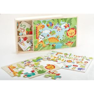 FISHER PRICE Ma Premi?re Boite Puzzle En Bois