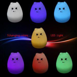 TOPERSUN Veilleuse Chambre Lampe Veilleuse B/éb/é Multicolore Rechargeable /à Distance Veilleuse L/ég/ère 9 Couleurs Classe /énerg/étique A ++