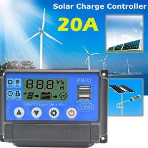 CHARGEUR DE BATTERIE 20A Régulateur de charge solaire automatique PWM r
