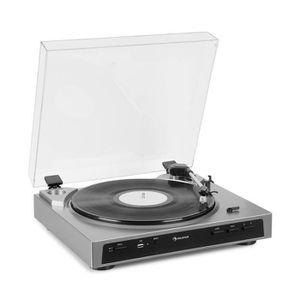 PLATINE VINYLE auna Fullmatic Platine vinyle pré-amplifiée - Tour