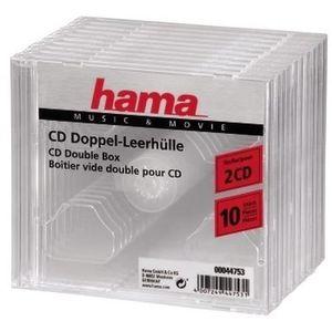 RANGEMENT CD-DVD Hama 00044753. Type d'étui: Boîtier double, Capaci