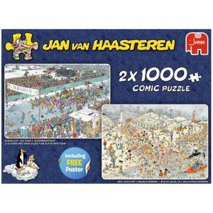 PUZZLE Jumbo puzzle Jan van Haasteren Plaisir d'hiver 2-e