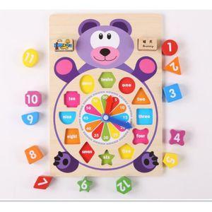 JEU D'APPRENTISSAGE Horloge en Bois Jouet pour Enfant Horloge pour App