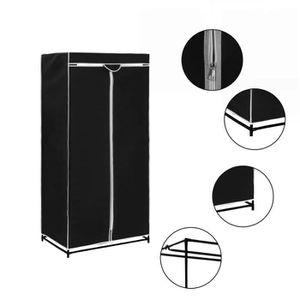 ARMOIRE DE CHAMBRE vidaXL Garde-robe Noir 75x50x160 cm