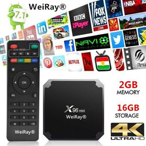 BOX MULTIMEDIA TV BOX - WEIRAY® 2Go + 16Go X96mini Décodeur Multi