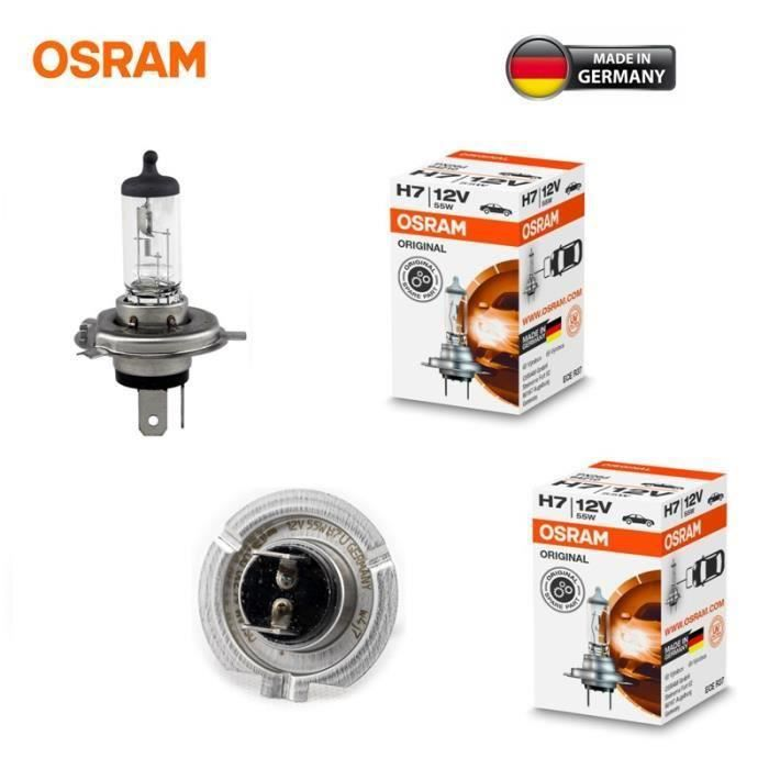 AIHONTAI® 2 AMPOULES H7 55W OSRAM ORIGINAL LINE PX26d 64210 12V CHAS R37 UV FILTER MADE IN GERMANY ID580