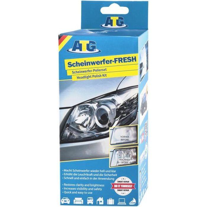 ATG Polish pour voiture - renovateur phare - 16-tlg. - DIY Smart - Kit d'entretien - avec tour de perçage