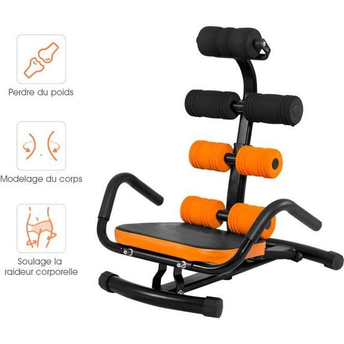 COSTWAY Banc de Musculation Inclinable avec Dossier Réglable en 3 Positions Angle 100-180°Charge 100KG pour Sit Up Exercices Fitness