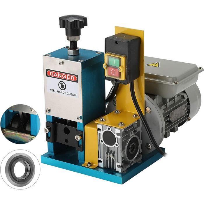 180W Machine à Dénuder Fils Électrique de Φ1,5mm à Φ25mm Dénudeur de Fils Électriques pour Câbles de Cuivre Récupération Cuivre