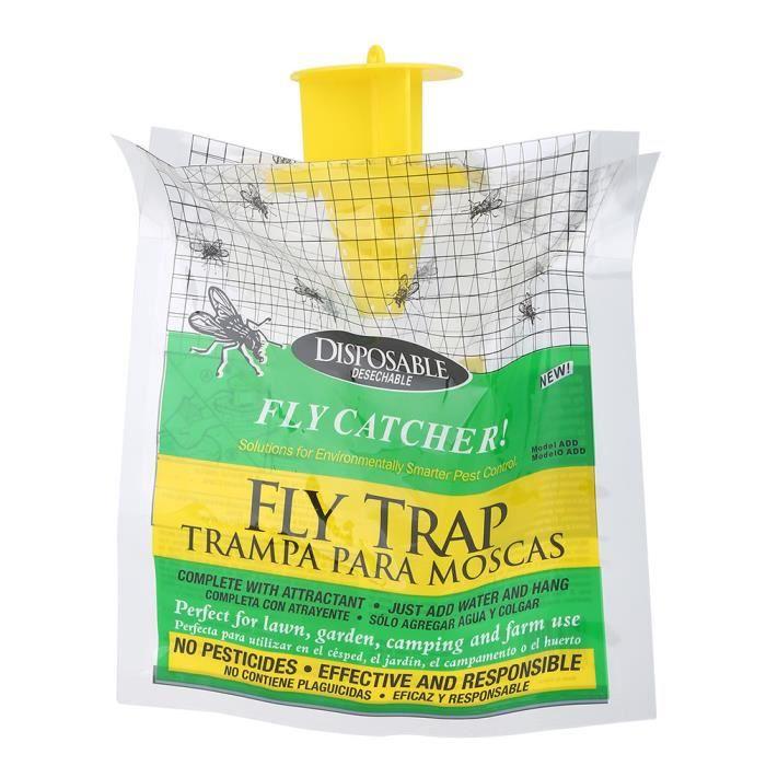 Attrapeur de mouche jetable - extérieur imperméable à la pluie une fois fly-killing sac de piège à mouches -DUO