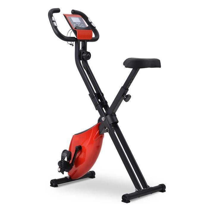 Vélo d'Appartement Pliable X-Bike - Rouge - 120kg 41*77*119cm
