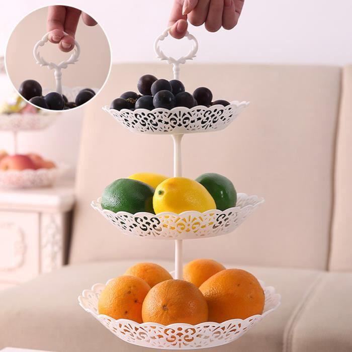 SET ACCESSOIRE CUISINE 3-Tier Cupcake stand gâteau Dessert fête de mariage de l'événement Tour d'affichage Assiette ronde