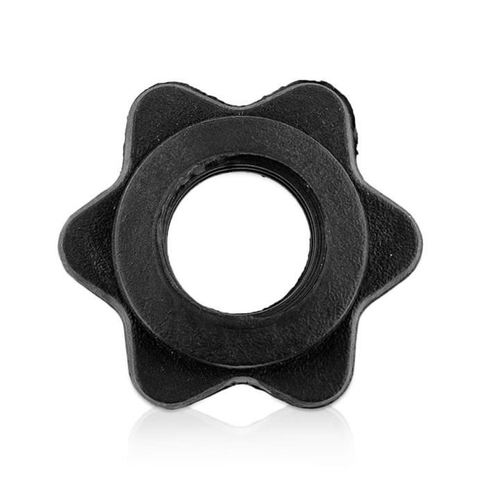 Accessoires de levage de poids antidérapants, 2 pièces, accessoire d'haltère fixe, écrou hexagonal, vis de collier de [03B91FC]