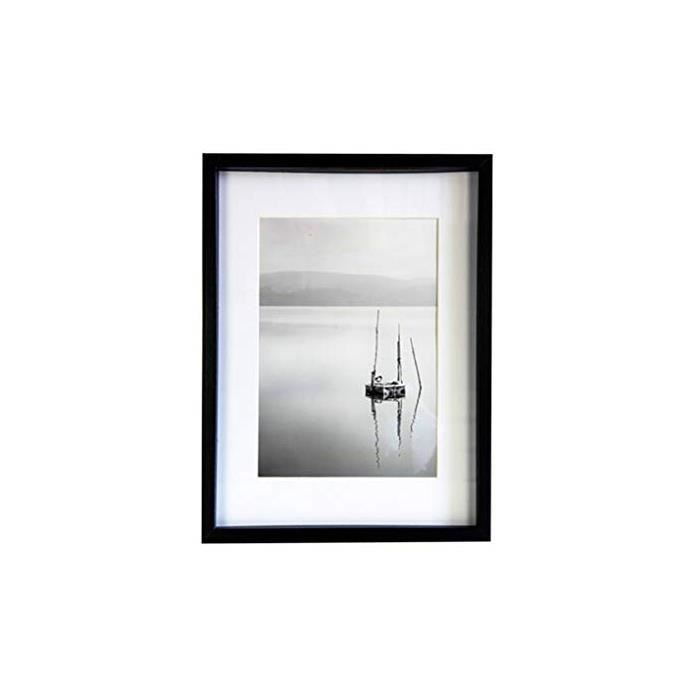 Cadre Photo Aura noir 40x50 bois incl. Passepartout