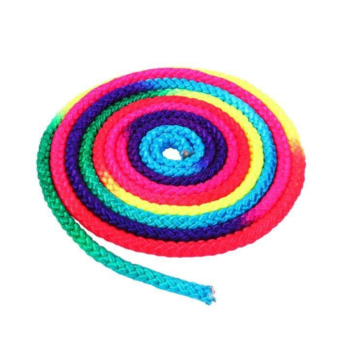 Arc-en-ciel couleur rythmique gymnastique corde solide compétition Arts entraînement corde gymnastique sport corde [B448F12]