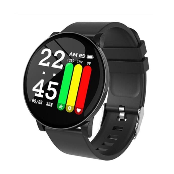 TROZUM wear fit montre intelligente W8 pour hommes pression artérielle fréquence cardiaque Fitness Tracker podomètr - Black - WL2107